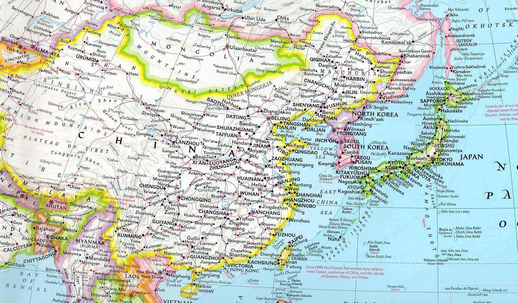 Complete Map Of Asia.Map Of East Asia